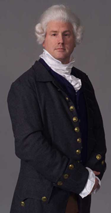 A photo of Hal Bidlack as Hamilton